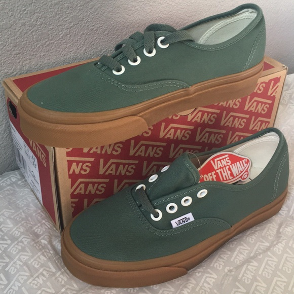 74cefce43ef Vans Authentic Duck Green Gum Men s 4